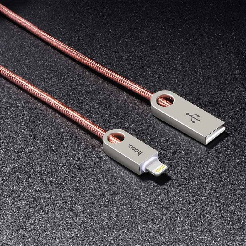 Hoco U8 Zinc alloy metal lightning charging cable