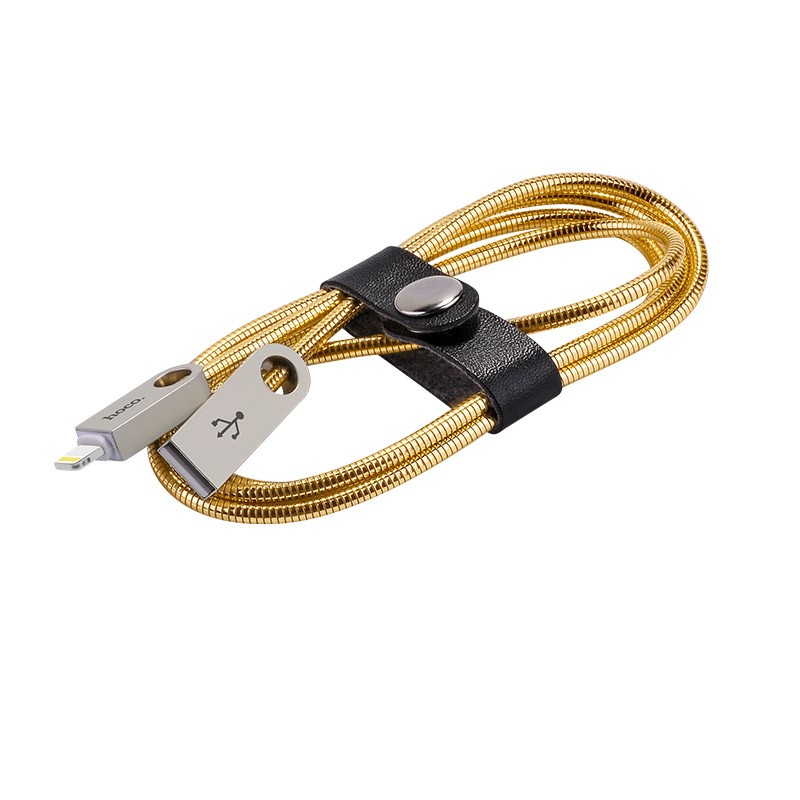 Hoco U8 Zinc alloy metal lightning charging cable