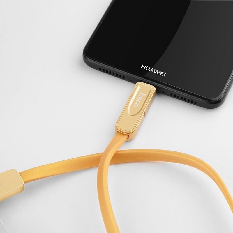 Hoco U24 Refined three in one charging cable lightning+micro+type-c