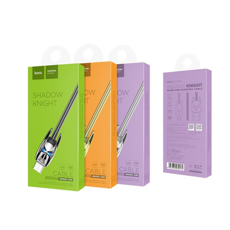 Hoco U30 Shadow Knight micro charging cable