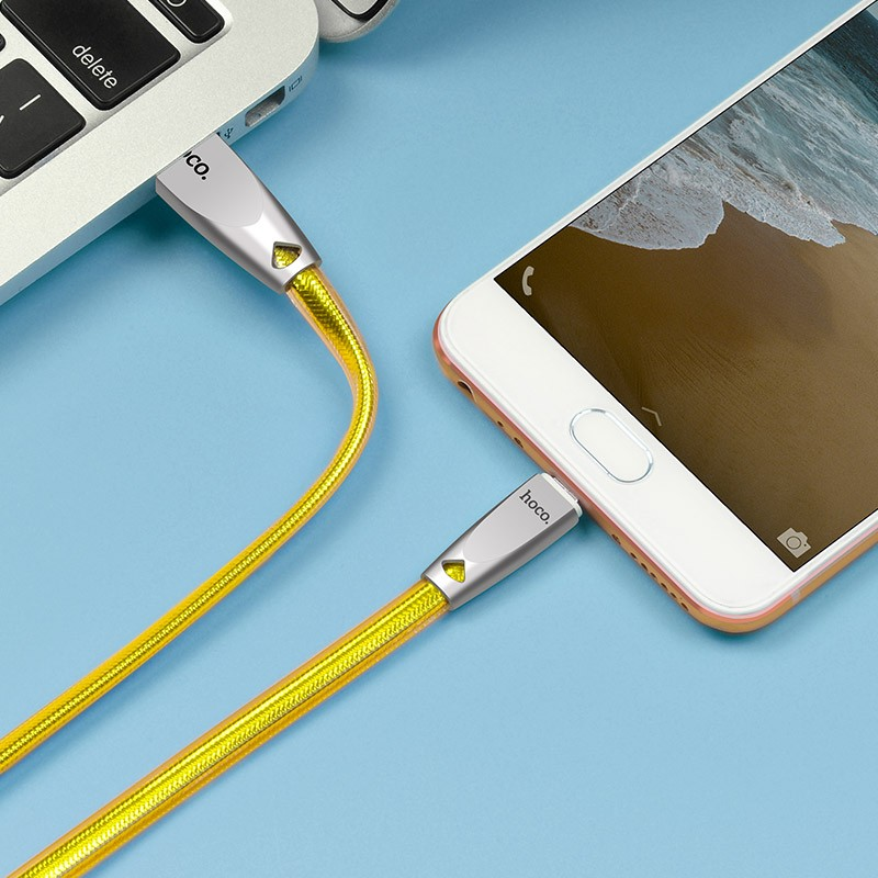 Hoco U9 Micro Zinc Alloy Jelly Knitted Charging Cable(L=2)