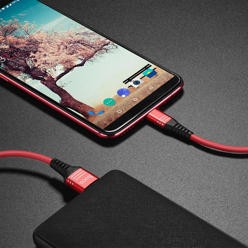 Hoco U46 Tricyclic silicone charging data cable for type-c