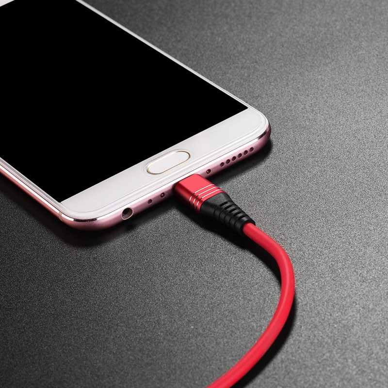 Hoco U46 Tricyclic silicone charging data cable for micro