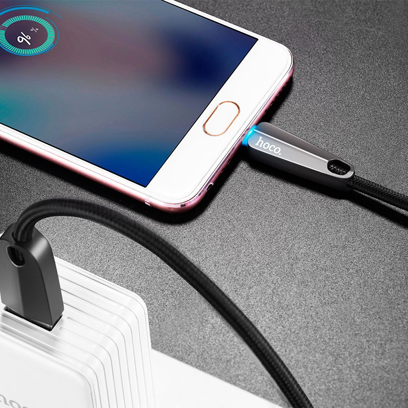 Hoco U35 Space shuttle smart power off micro charging data cable(L=1.2)