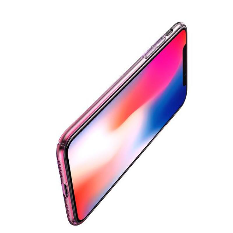 Baseus Aurora Case Transparent Pink