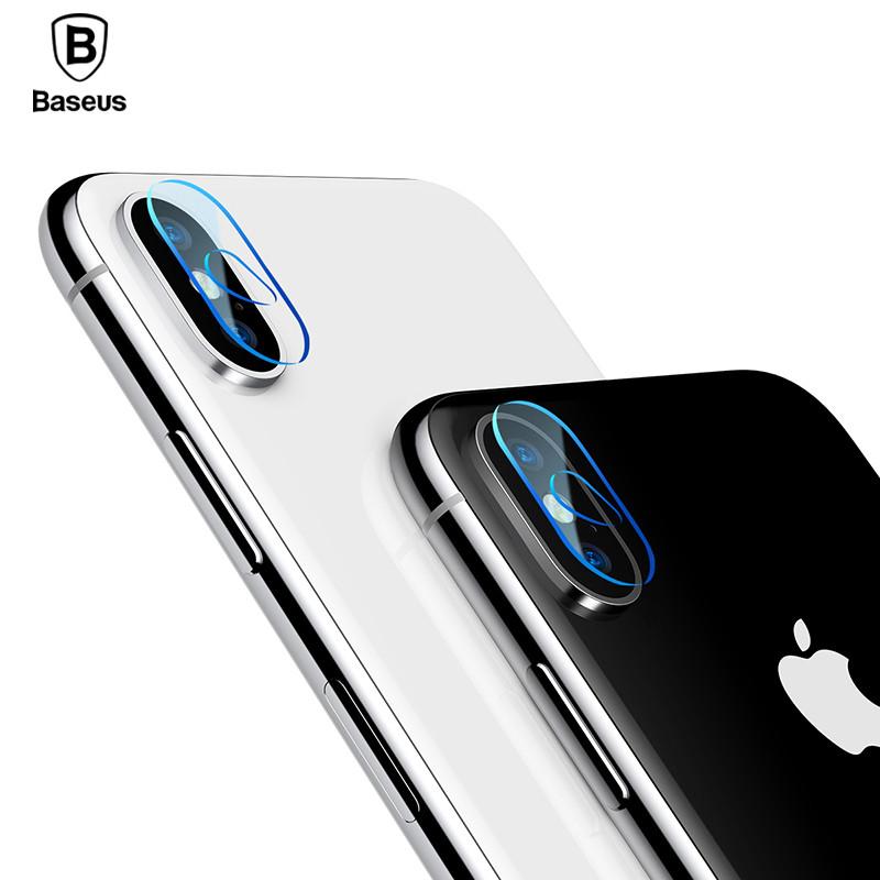 Baseus Camera lens glass film For iP X Transparent