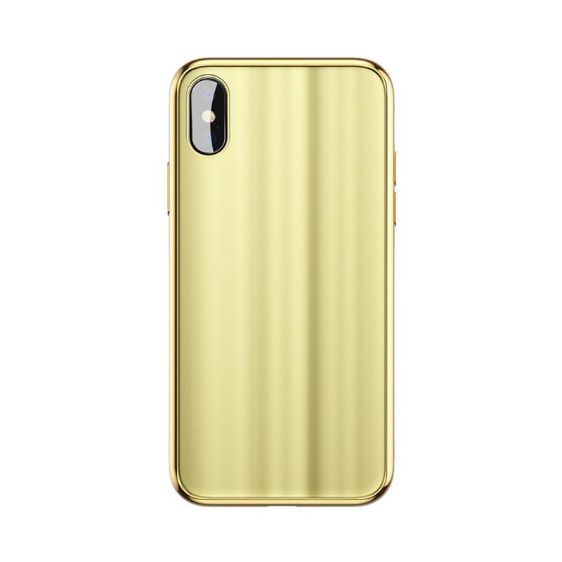 Baseus Glass Sparkling Case For iPX Gold