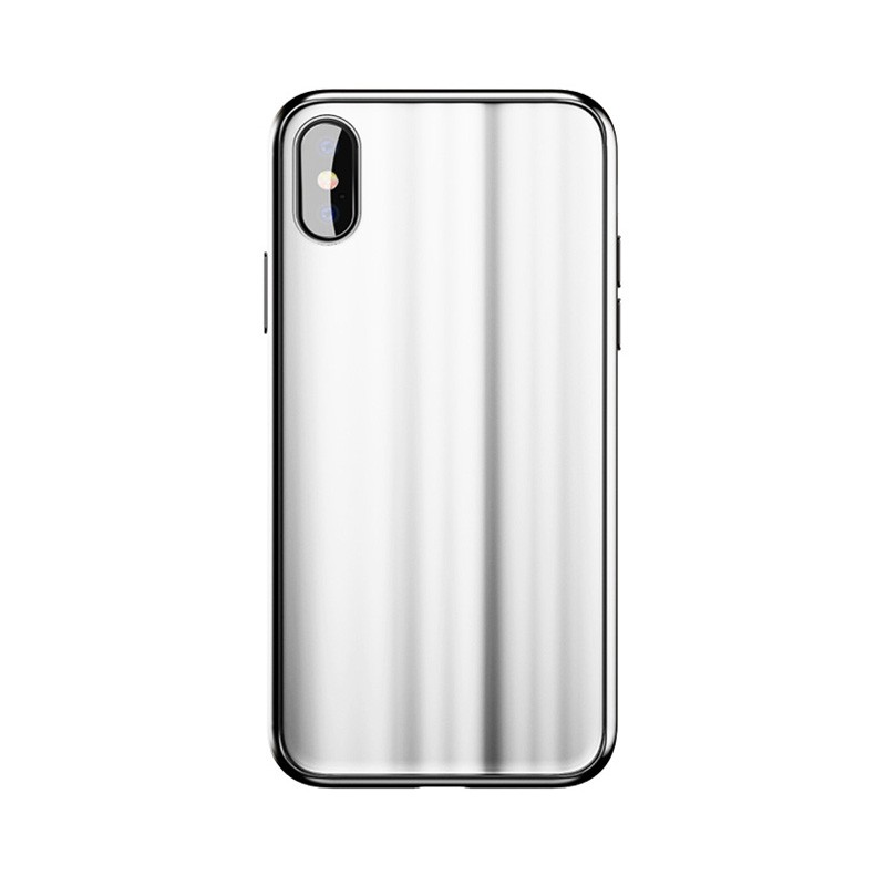 Baseus Glass Sparkling Case For iPX White
