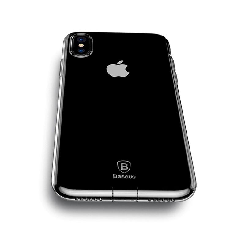 Baseus Glaze Case For iPX Transparent black