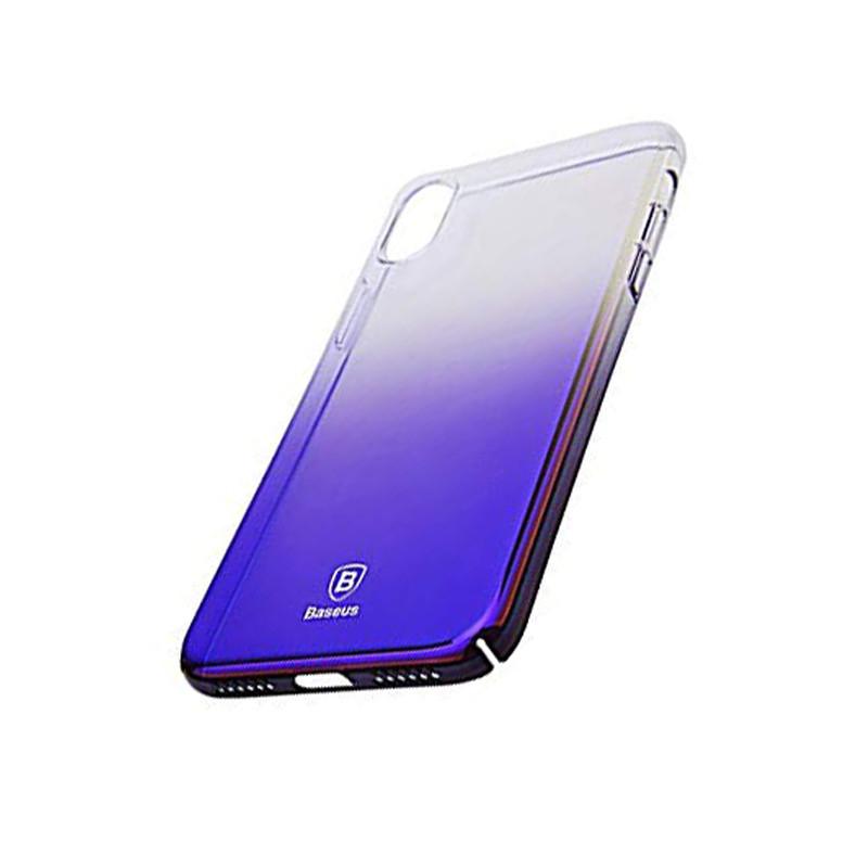 Baseus Glaze Case For iPX Transparent blue
